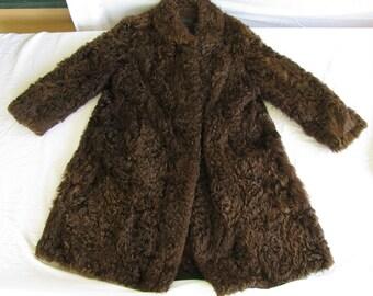 Vintage Long Brown Fur Coat