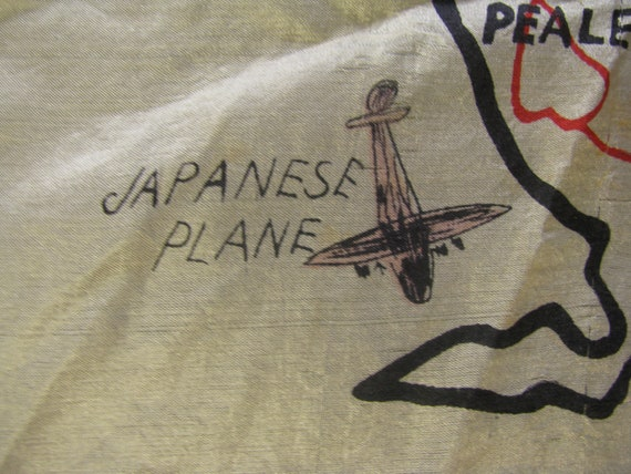 Early and Rare Wake Island Souvenir Map Silk Scarf - image 10