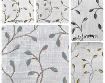aangepaste geborduurd draperie handgemaakt in canada natural linnen designer stoffen en gemaakt om te bestellen gordijnen