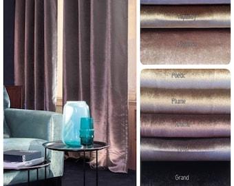 Avalon Custom Velvet Drapery Panels. Available in 31 colors! Velvet Curtains. Pinch Pleat Drapery. French Pleat Drapery.