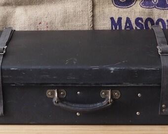 Praktical Luggage Storage,Retro Home Decor,Gift Metal Locks Vintage Large Leather Suitcase Old Shabby Suitcase,Retro Hard Travel Suitcase