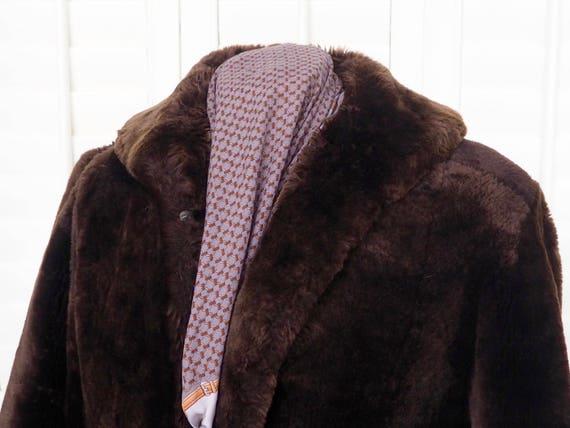 Prop A Coat Retro Made in Film Medium Fur Old Sized Boho Lamb Coat Skins Fur Vintage England URUpwBr8