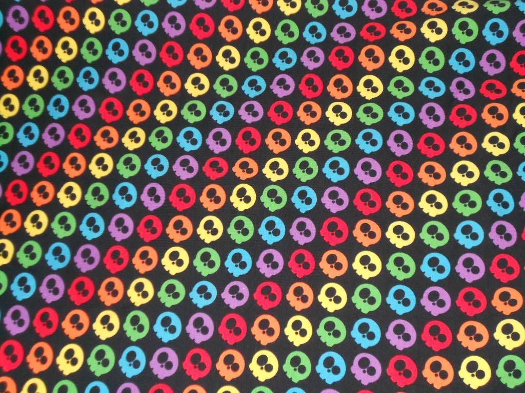 Custom Knit Fabric Rainbow Skulls Stars Rainbow Stars Etsy