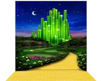 Wizard Of Oz Emerald City Yellow Brick Road Photo Backdrop