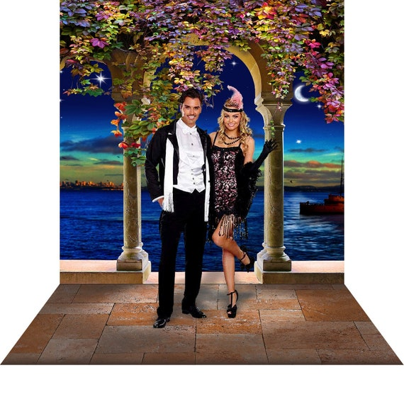 Great Gatsby Backdrop 1920 S Prom Dance Party Decor Photo Backdrop Prop Art Deco Waterfront Gatsby Theme Gala Costume Special Occasion
