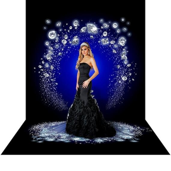 Diamond Backdrop, White Diamonds, Blue and White Photo Backdrop, Silver Homecoming Dance Party Decor, Bridal, Photography Backdrop