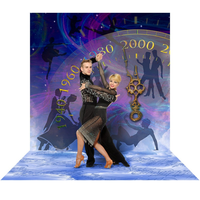 Ballet Dance Backdrop for Ballroom Swing Contest Tango Photo Booth Backdrop Party Decor Salsa Dance Competition Stage Musical