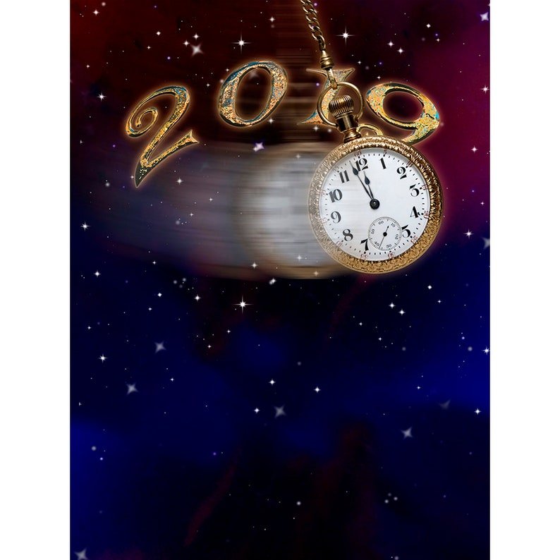 Party Band 2019 New Year/'s Eve Backdrop Count Down to Midnight Party Decoration Photo Backdrop for an Event Concert Dance Venue