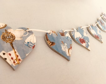 Alice in Wonderland Wooden Bunting