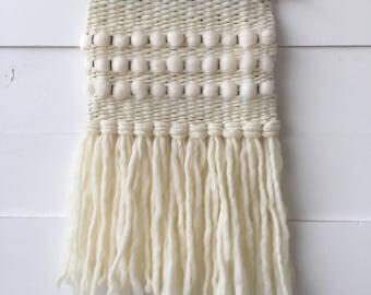 Woven wall hanging, weaving, tapestry, fiber art