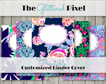 Printable Binder Covers - Lilly Pulitzer Inspired Collection 2- Custom Binder Inserts