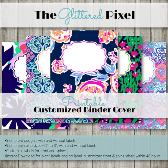 graphic relating to Lilly Pulitzer Printable Binder Covers known as Printable Binder Addresses - Lilly Pulitzer Impressed Range 2- Customized Binder Inserts
