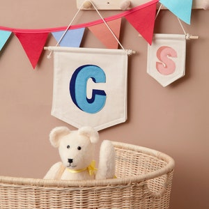 Name Banner High Chair Banner 1st Birthday Banner Above Bed Banner Purple Burlap Name Banner