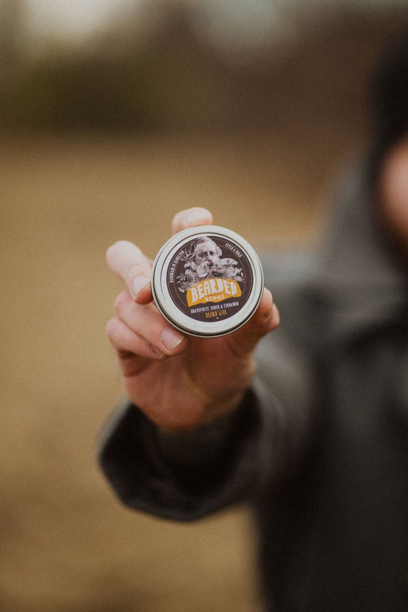 Bearded Nomad's Grapefruit Birch and Cinnamon Beard Wax image 0