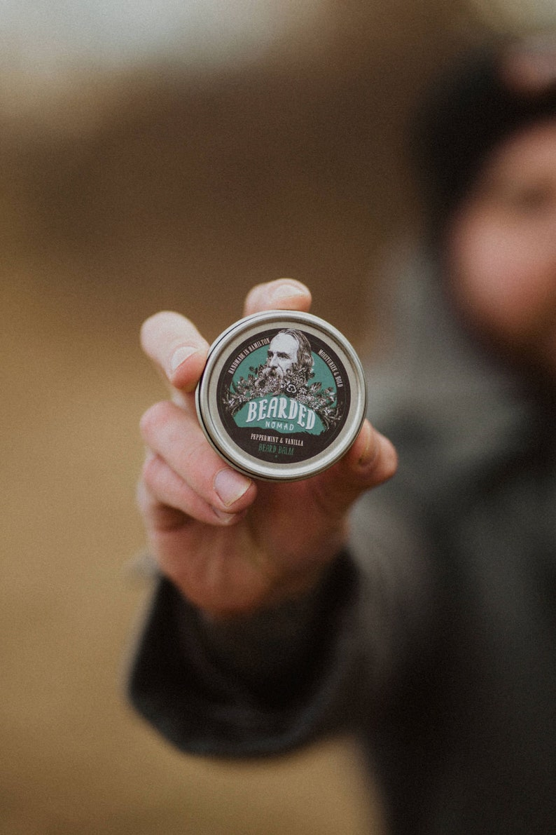 Peppermint and Vanilla Beard and Moustache Balm image 0