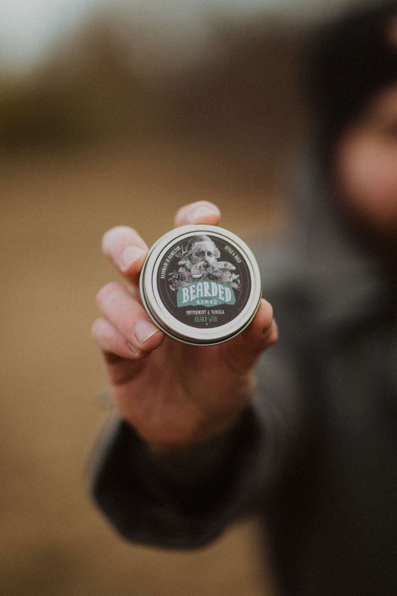 Peppermint and Vanilla Beard Wax image 0