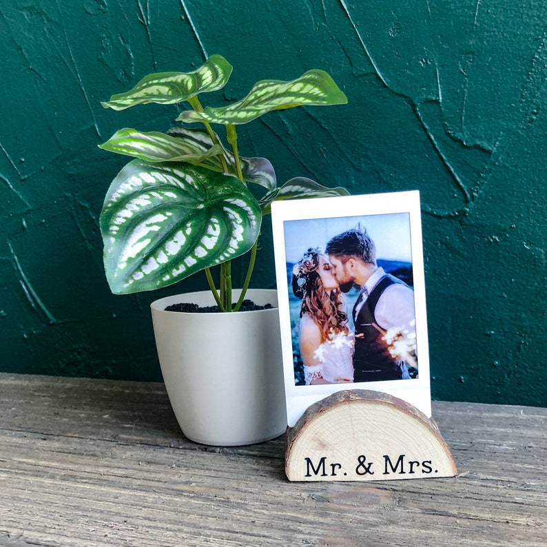Gifts for Him |Instax SQ Display Gift for Her Couple Gift under 10 Instax Mini Initial Picture holder Custom Instax Mini Photo Stand