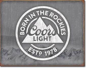 """Tin Sign """" Coors Light Beer """" 16""""x12"""" Man Cave"""