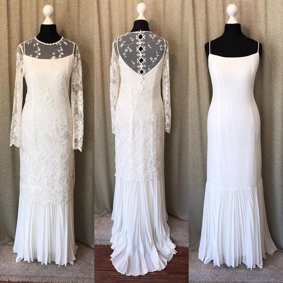 Lace Vintage Wedding Dress 1920s 1930s 1940s Style Art