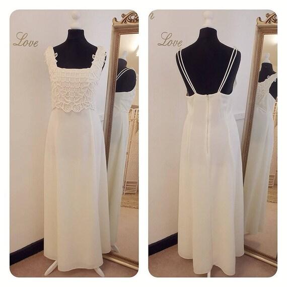 10 Wedding 14 Informal Lace Unique US 12 16 Dress U Guipure K Stunning Size Plus xzwqFY