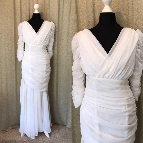 Art Deco Vintage 1920s Style Wedding Dress UK 12 Gatsby
