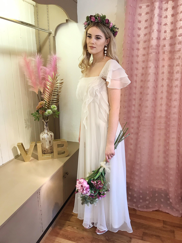 Boho Wedding Dress, Floaty, Ethereal, Fairy, 20s VintAge Wedding Dress UK  20 US 20 Ivory Cream Bohemian Eco Friendly wedding dress