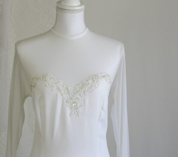 Sleeve for UK 12 Classic a 14 Long Tall US Wedding Dress Bride Vintage wqcHUXHE