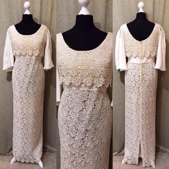 1960s Wedding Dress, 60s, Lace, Vintage Wedding Dr