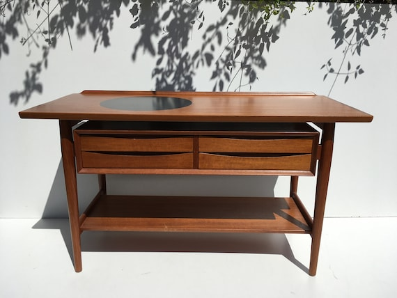 Danish Teak Credenza For Sale : Sale authentic 1960s danish teak credenza console by arne etsy