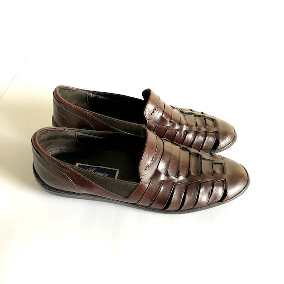 Men's Bragano Italy Woven Slip On Sandal Loafers S