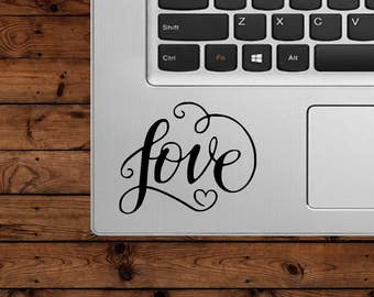 Love Decal - Love - Glitter Decal- Heart Decal - Laptop Decal - Cell Phone Decal - Car Decal - Tumbler Decal