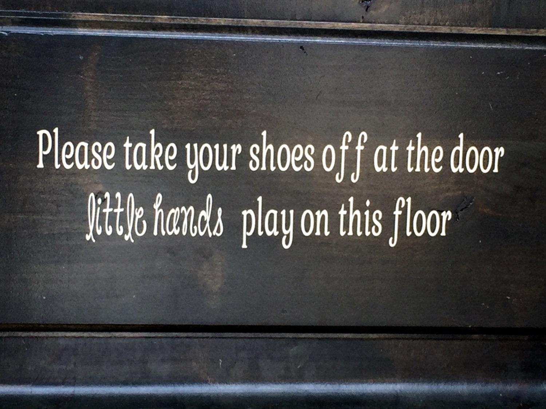 Front Door Vinyl Decal - Glitter Decal - Remove Your Shoes - Front Door  Decal