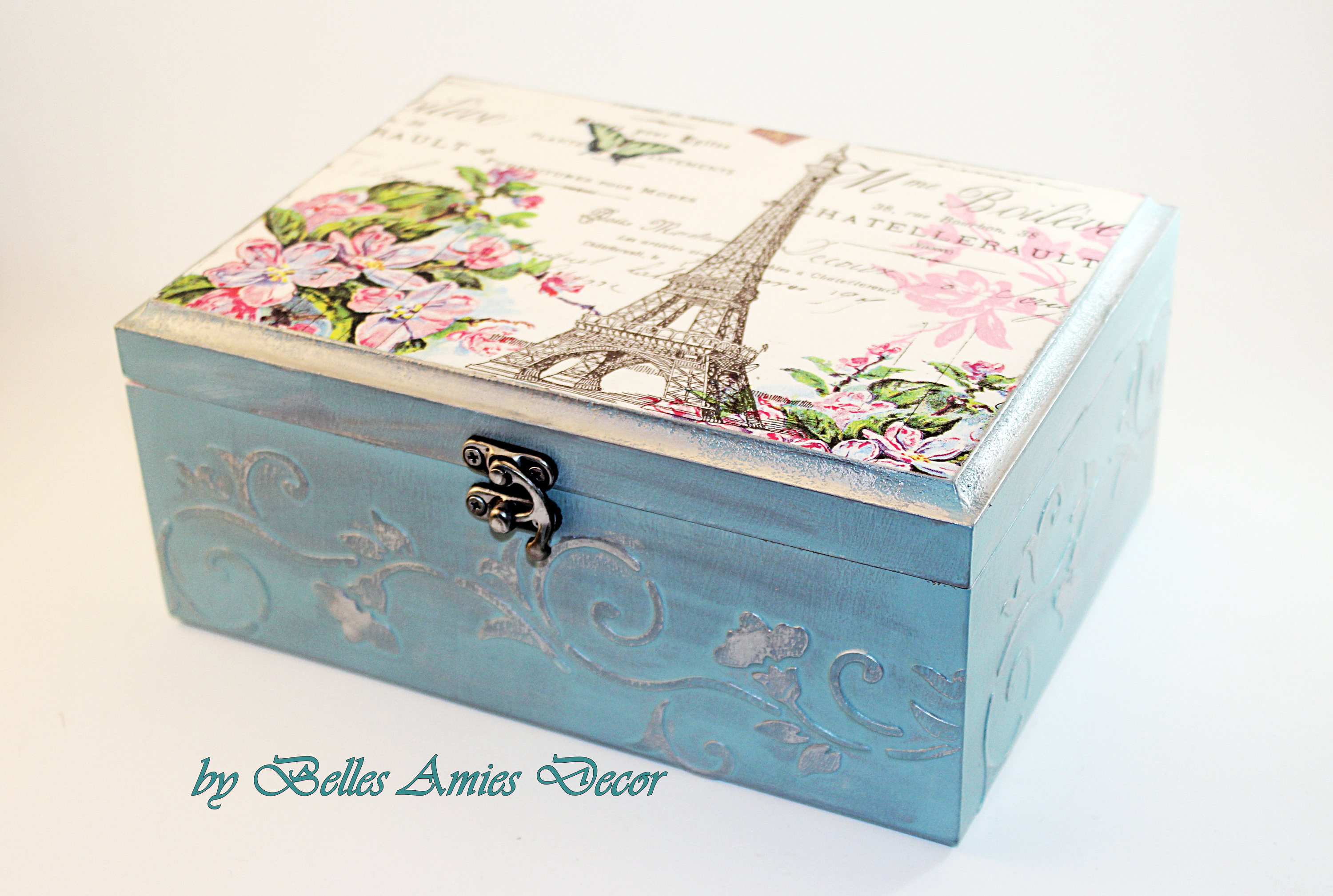 Tea box Paris jewelry box gift for girl womens gifts Paris