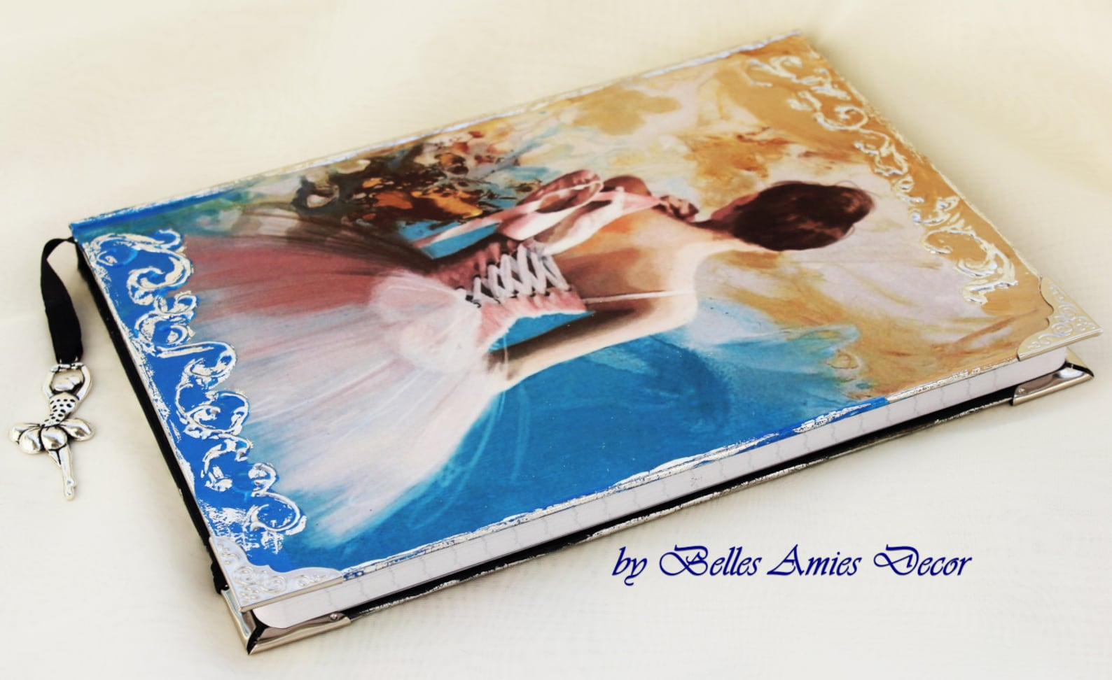 a5 notebook, ballerina journal, personal diary with ballerina, ballet gifts, birthday gift girl, ballet art, ballet decor, niece