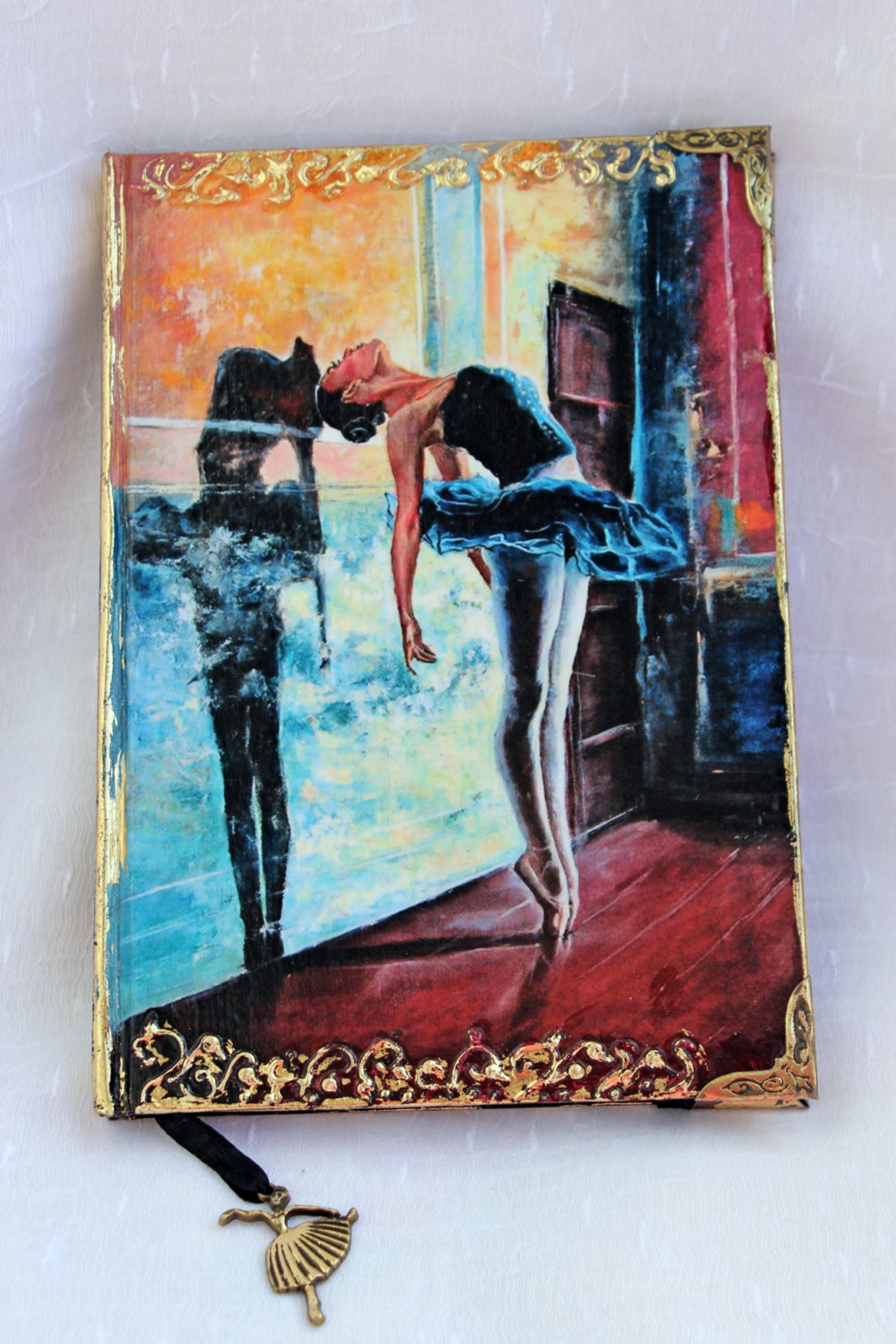 notebook journal , ballerina a5 notebook, personal diary, ballet gifts, girls gift, personal journal, ballerina journal, writing