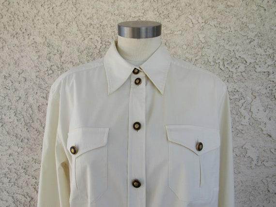 1980s Mondi Button Front Shirt