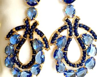 Sodalite blue earrings
