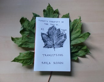 "Today's Identity of the Day Is...#2: Transitions"" Zine — Digital. Autumn, transgender, survival, chosen family, femme, disability"