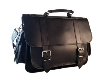 Full Grain Leather Messenger Bag. 13 inch Laptop Bag. Professional Briefcase. Handmade in Greece. 5 COLORS AVAILABLE.