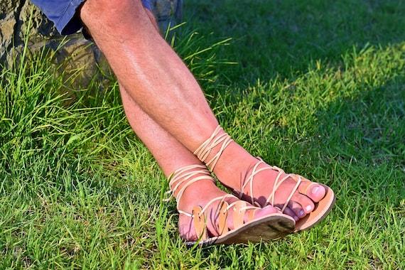 men's lace up gladiator sandals