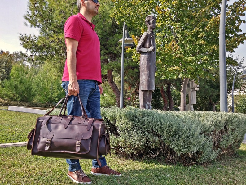 1f0504a4d Carryall Bag Leather Weekender Bag Travel Bag from Full   Etsy