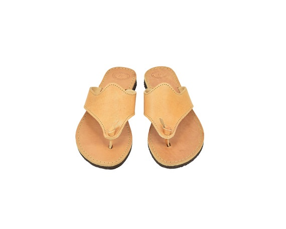 Flat Sandals Women, Leather Flip Flops from Full Grain Leather by LeatherStrata.