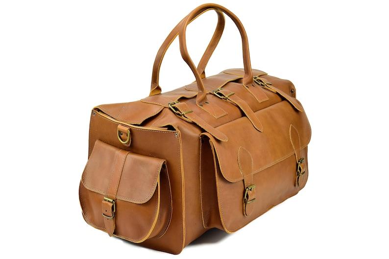 8e552ea97 Full Grain Leather Weekender Leather Duffel Bag 35 liter   Etsy