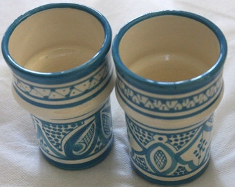 BELL & DEE cups - set of 2 TURQUOISE