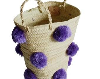 OTHELLO pompom basket - LILAC