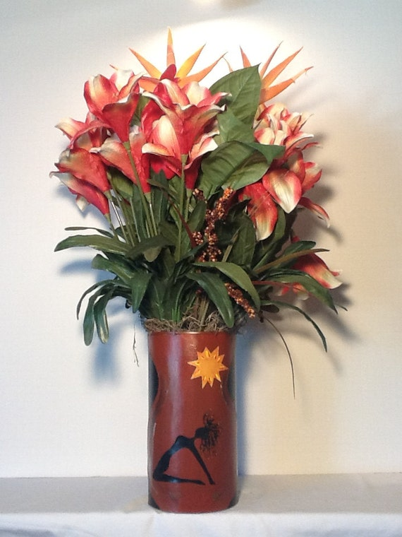 Flower Vase Taking It All In Boho African Handcrafted Etsy