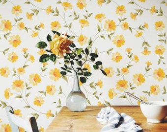 Petunia Flower Pattern Wallpaper, Petunia Removable Wallpaper, Petunia Wall Decal, Petunia Self Adhesive Wallpaper, 192