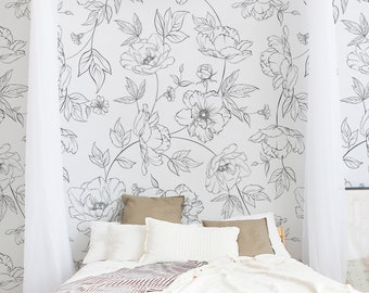 Peel And Stick Wallpapers And Large Murals By Wallflorashop
