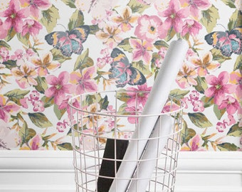 Impanties Pattern Wallpaper, Butterfly & Imapanties Removable Wallpaper, Butterfly Wall Decal, 120