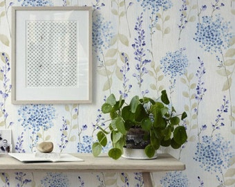 Forget-me-nots Self Adhesive Wallpaper, Vynil Wallpaper, Removable Wall Stickers, 228